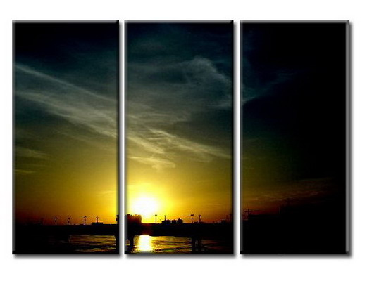 Modern Oil Paintings on canvas sunglow painting -set08039