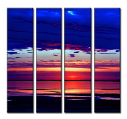 Modern Oil Paintings on canvas seascape painting -set08054