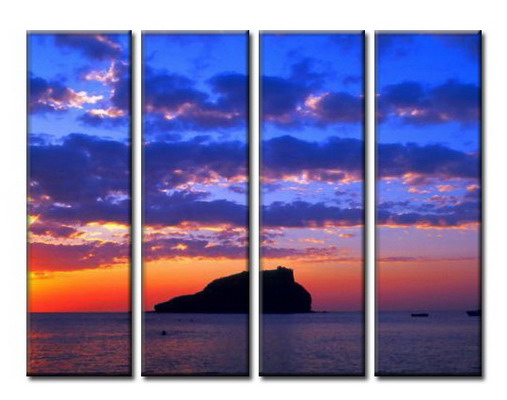 Modern Oil Paintings on canvas seascape painting -set08055