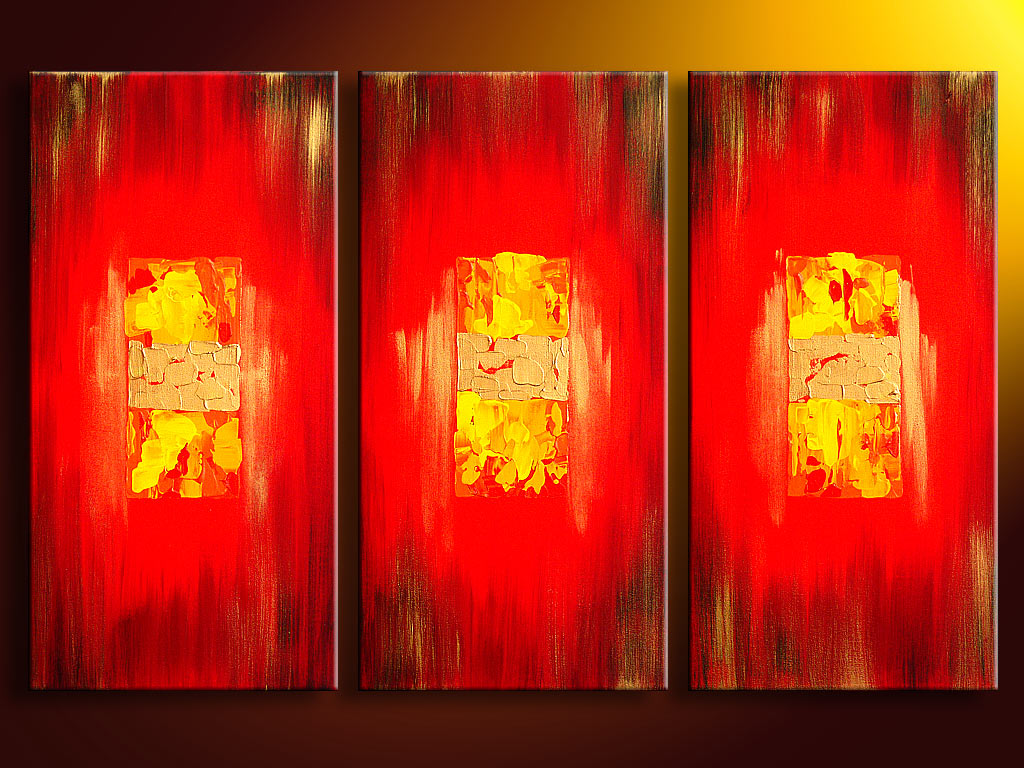 Modern Oil Paintings on canvas abstract painting -set08067