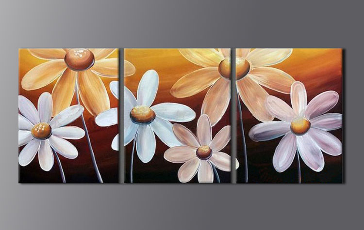 Modern Oil Paintings on canvas flower painting -set08079