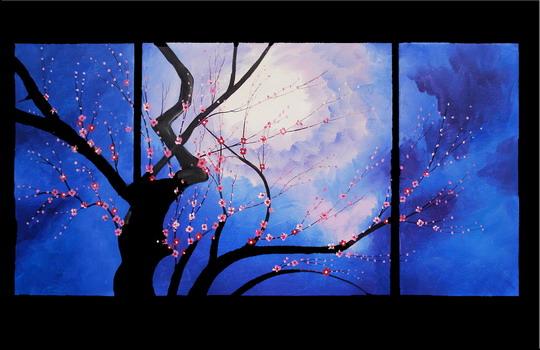 Modern flower oil painting