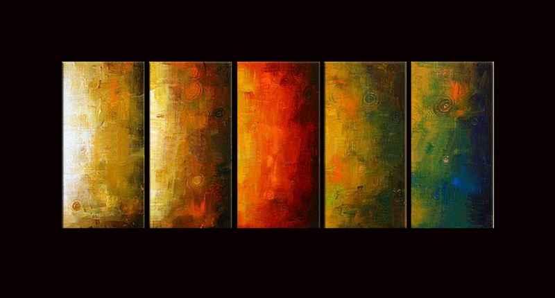 Modern Oil Paintings on canvas abstract painting -set08087