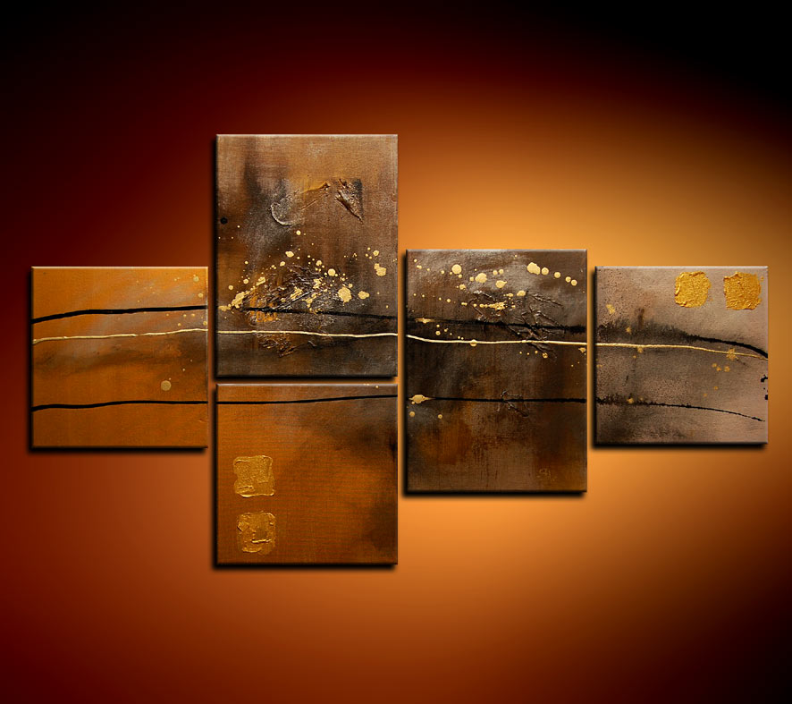 Modern Oil Paintings on canvas abstract painting -set08114