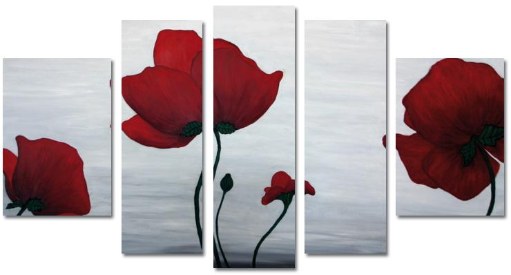 Modern Oil Paintings on canvas flower painting -set08141