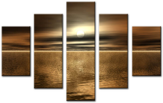 Modern seascape oil painting