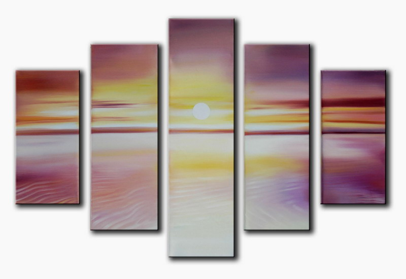 Modern Oil Paintings on canvas seascape painting -set08147