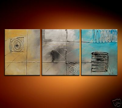 Modern Oil Paintings on canvas abstract painting -set08200