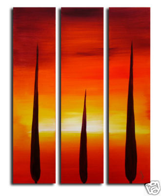 Modern Oil Paintings on canvas tree painting -set09031