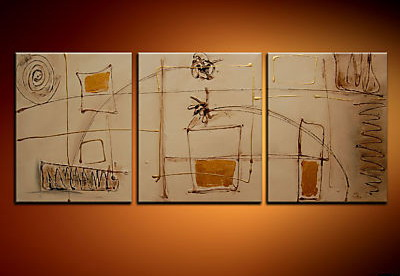 Modern Oil Paintings on canvas abstract painting -set09038