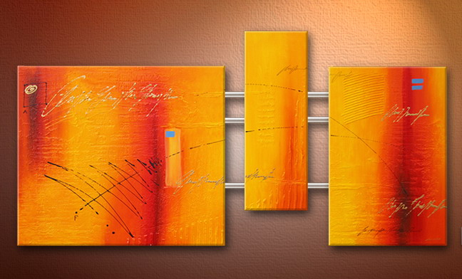 Modern Oil Paintings on canvas abstract painting -set09093