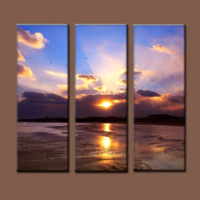 Modern Oil Paintings on canvas sunglow painting -set10006
