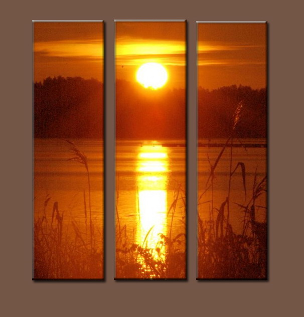 Modern Oil Paintings on canvas sunglow painting -set10019