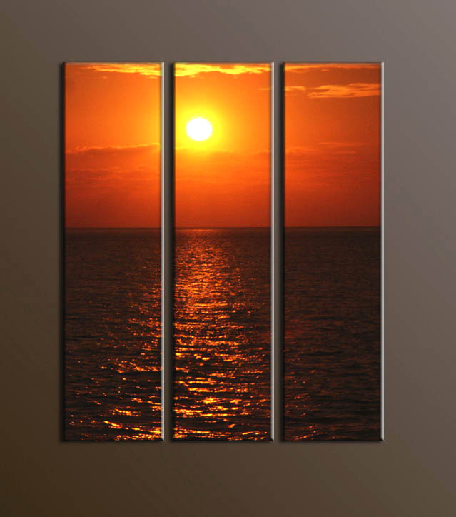 Modern sunglow oil painting