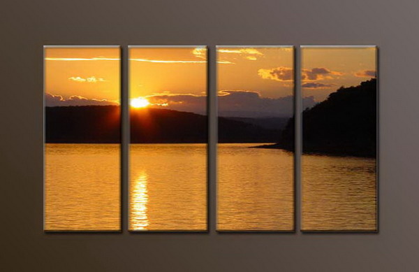 Modern Oil Paintings on canvas sunrise painting -set10033