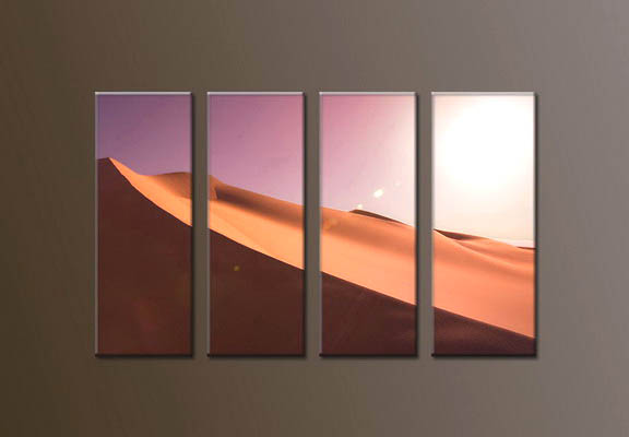 Modern Oil Paintings on canvas sunrise painting -set10045