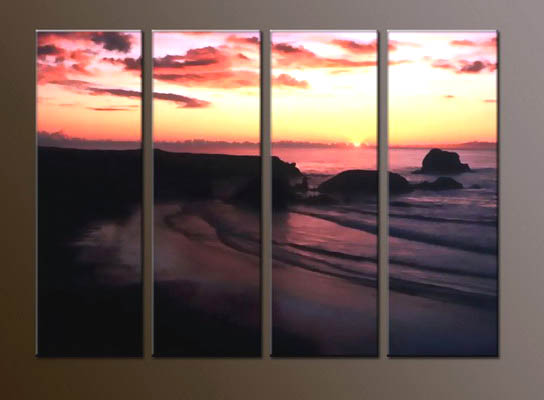 Modern Oil Paintings on canvas sunrise painting -set10055
