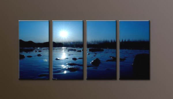 Modern Oil Paintings on canvas sunrise painting -set10072