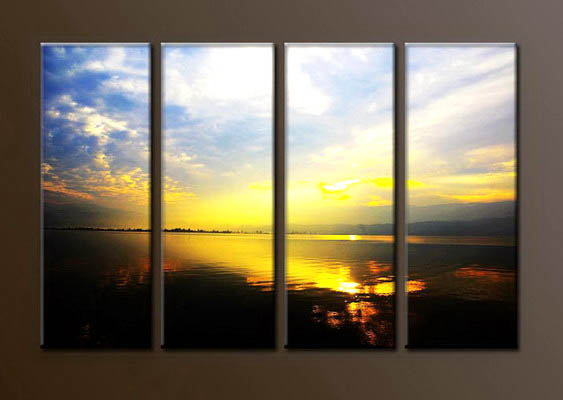 Modern Oil Paintings on canvas sunrise painting -set10077