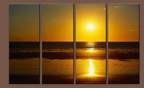 Modern Oil Paintings on canvas sunrise painting -set10133