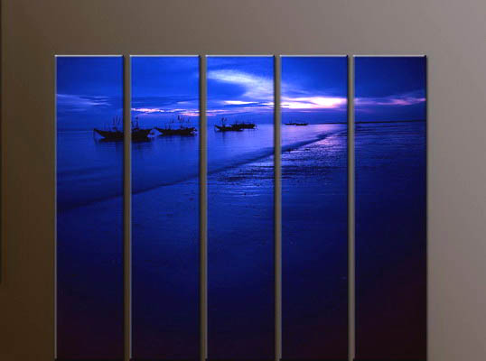 Modern Oil Paintings on canvas seascape painting -set10137