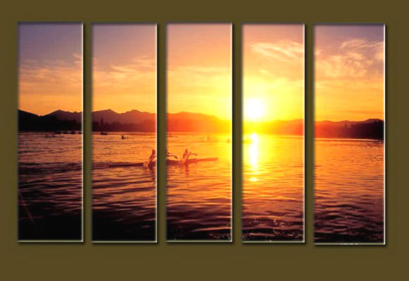 Modern Oil Paintings on canvas seascape painting -set10147