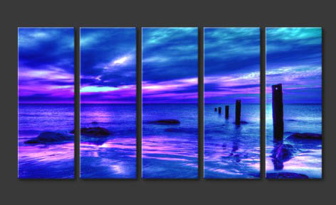 Modern Oil Paintings on canvas seascape painting -set10152