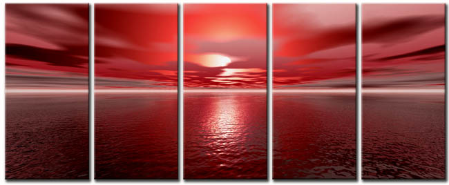 Modern Oil Paintings on canvas seascape painting -set10154