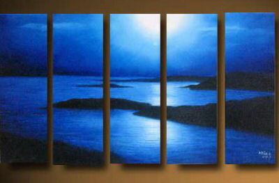 Modern Oil Paintings on canvas seascape painting -set10162