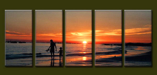 Modern Oil Paintings on canvas seascape painting -set10173