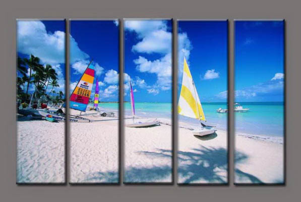Modern Oil Paintings on canvas seascape painting -set10189