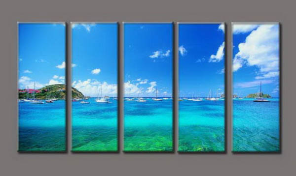 Modern Oil Paintings on canvas seascape painting -set10190
