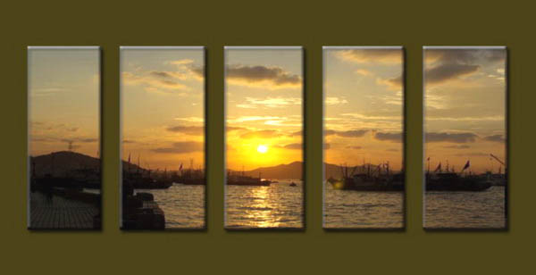 Modern Oil Paintings on canvas seascape painting -set10191