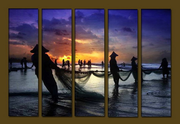 Modern Oil Paintings on canvas seascape painting -set10197