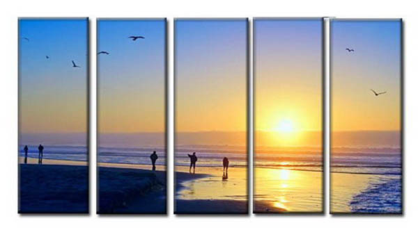Modern Oil Paintings on canvas seascape painting -set10199