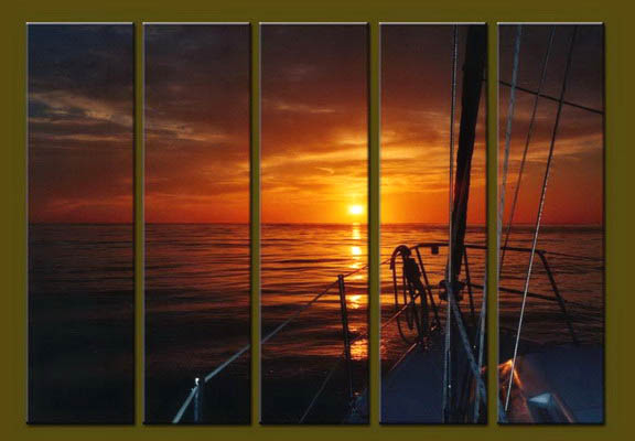 Modern Oil Paintings on canvas seascape painting -set10232