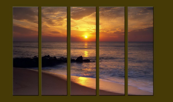 Modern Oil Paintings on canvas seascape painting -set10233