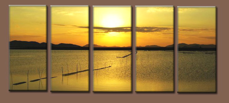 Modern Oil Paintings on canvas seascape painting -set10235