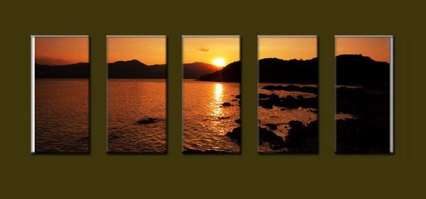 Modern Oil Paintings on canvas seascape painting -set10249