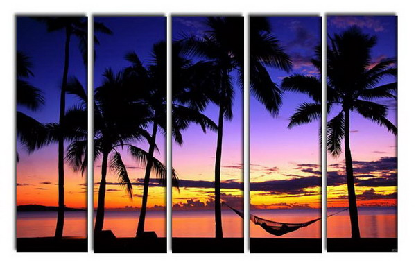 Modern Oil Paintings on canvas seascape painting -set10252