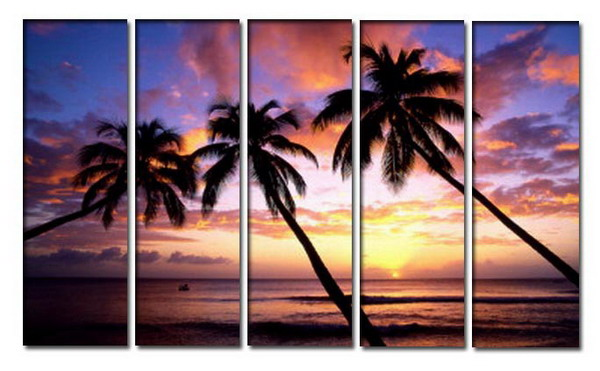 Modern Oil Paintings on canvas seascape painting -set10255