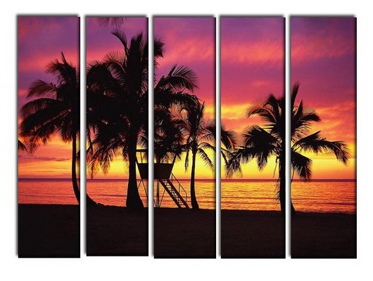 Modern Oil Paintings on canvas seascape painting -set10257