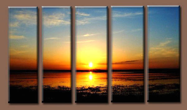 Modern Oil Paintings on canvas seascape painting -set10264