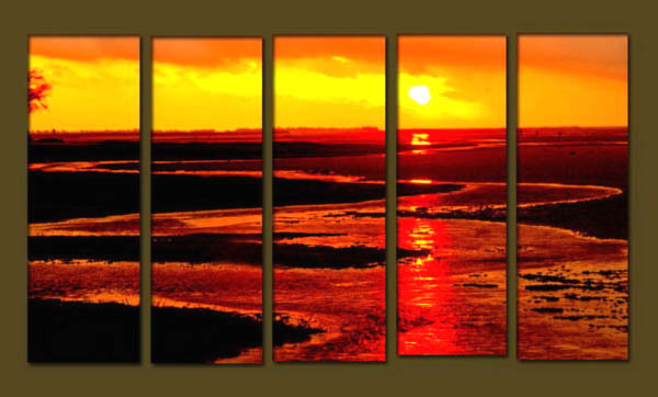 Modern Oil Paintings on canvas seascape painting -set10265