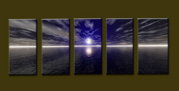 Modern Oil Paintings on canvas seascape painting -set10277