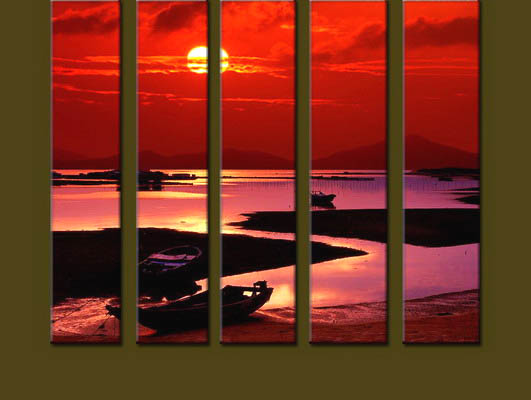 Modern Oil Paintings on canvas seascape painting -set10279