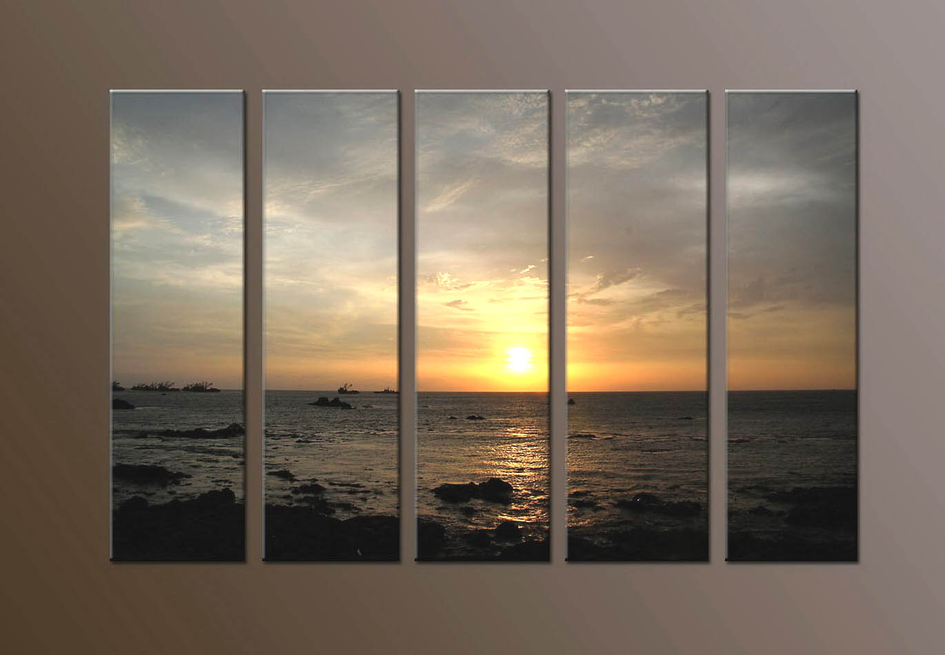 Modern Oil Paintings on canvas seascape painting -set10280