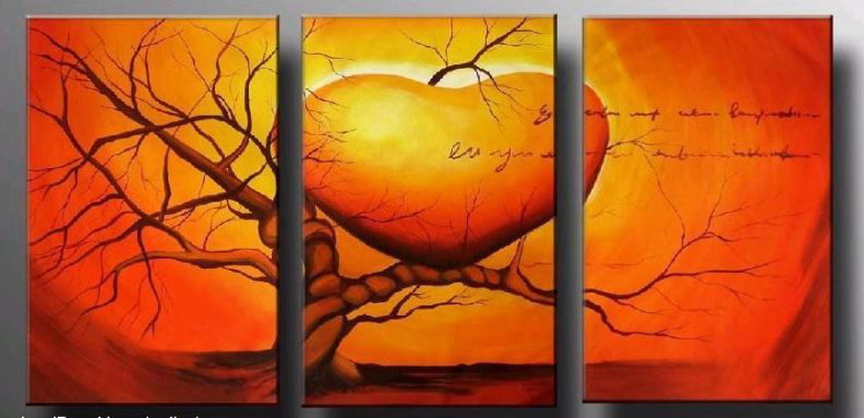 Modern Oil Paintings on canvas abstract painting -set12004