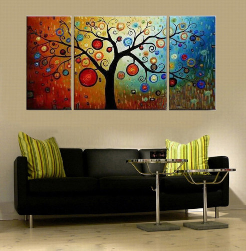 Modern Oil Paintings on canvas abstract painting -set12008