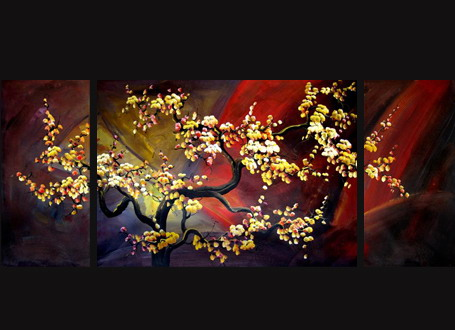 Modern Oil Paintings on canvas abstract painting -set12009